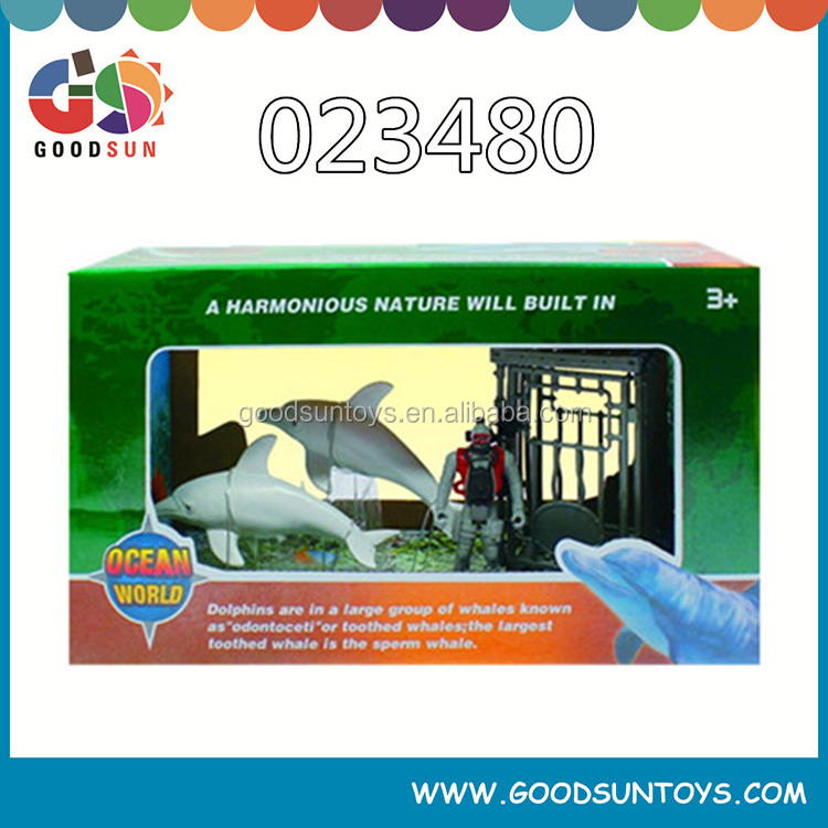 Hot selling military toys play set soldier military toys animal rescue shark for child