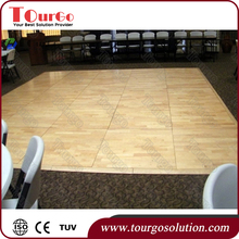 TourGo Portable Wooden Dance Floor for Event Wedding or Dance Competition Solid Wood Seamless Floating Dance