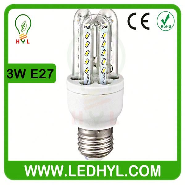 energy star 3w e27 led energy saving corn bulb light lamp e3W warm/warm white voal