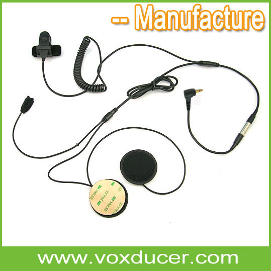 Throat Earpiece with finger ring PTT for Yaesu Vertex military radio VX-180 VX-210