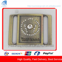CD1612 High Quality Rhinestone Metal Solid Brass Belt Buckles