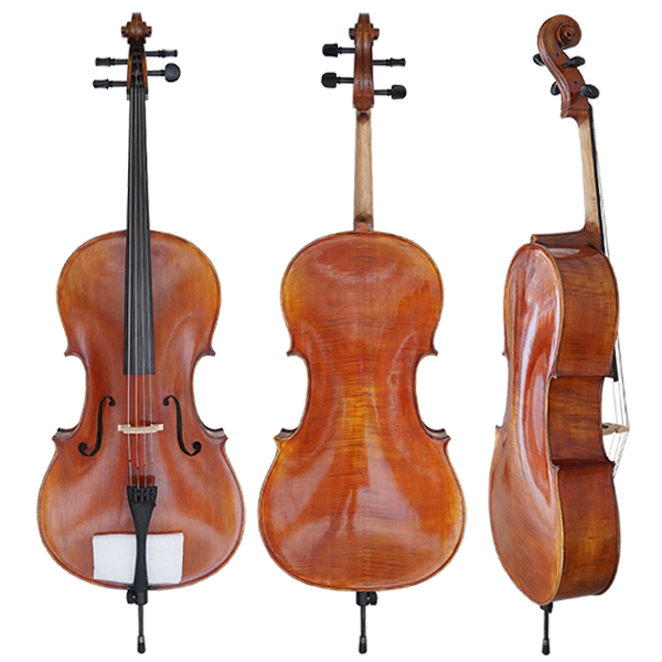 professional European Material Figured Maple Body cello for sale