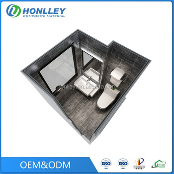 Honlley modern fiberglass prefab shower cabin, beach shower cabin australian