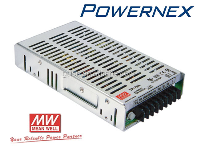 [PowerNex] Mean Well TP-75A Triple Output Switching Power Supply, Enclosed PFC, 3 output