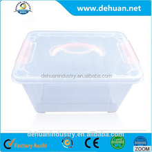 Sell well foldable plastic storage box with handle