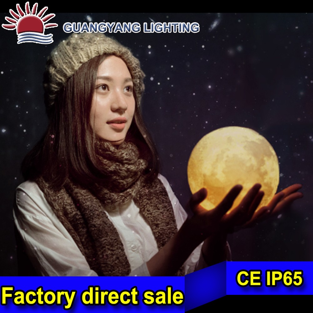 15cm PE Remote control/ Waterproof /rechargeable LED full moon ball light