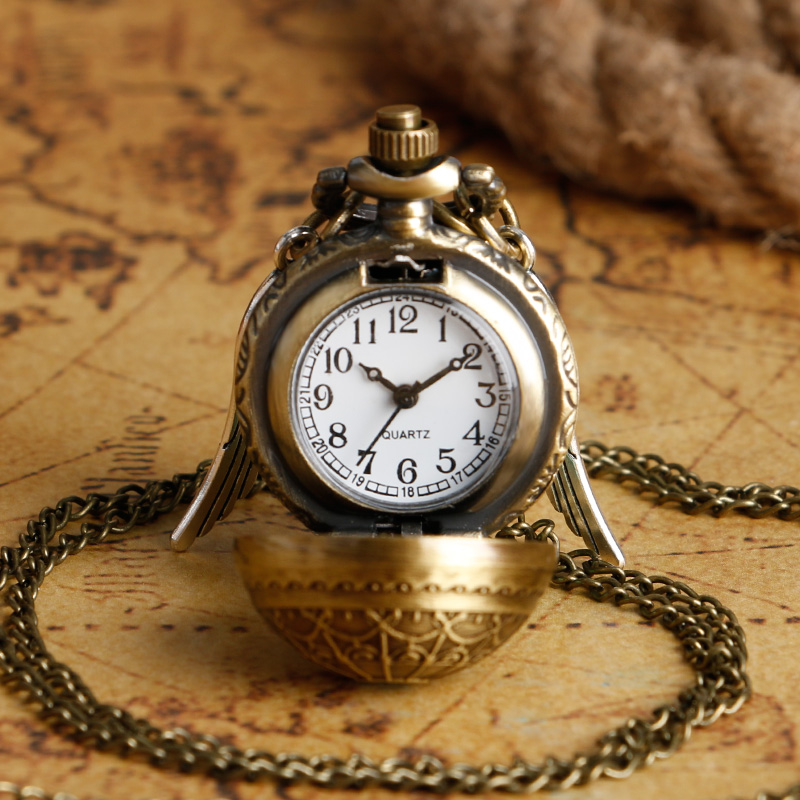 Popular Drop Ship Pocket Watch With Chain Sweater Necklace