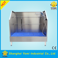 Open type stainless steel pet bath tub, pet grooming cleaning supplies