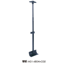 Luggage telescopic trolley handle parts single handle trolley luggages with laptop backpacks