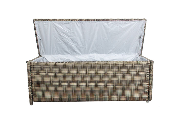 Hot sale all weather wicker waterproof outdoor cushion box