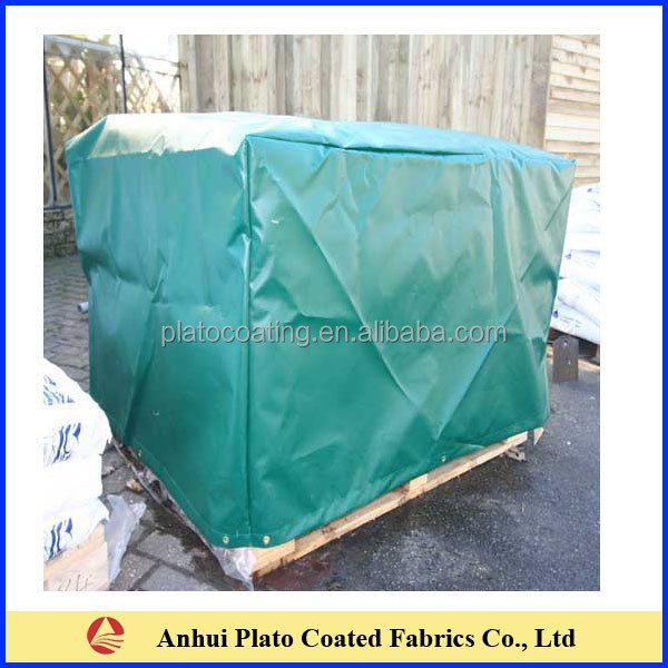 waterproof pvc tarpaulin pallet cover