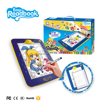 Hot selling high quality magic drawing toys led drawing board