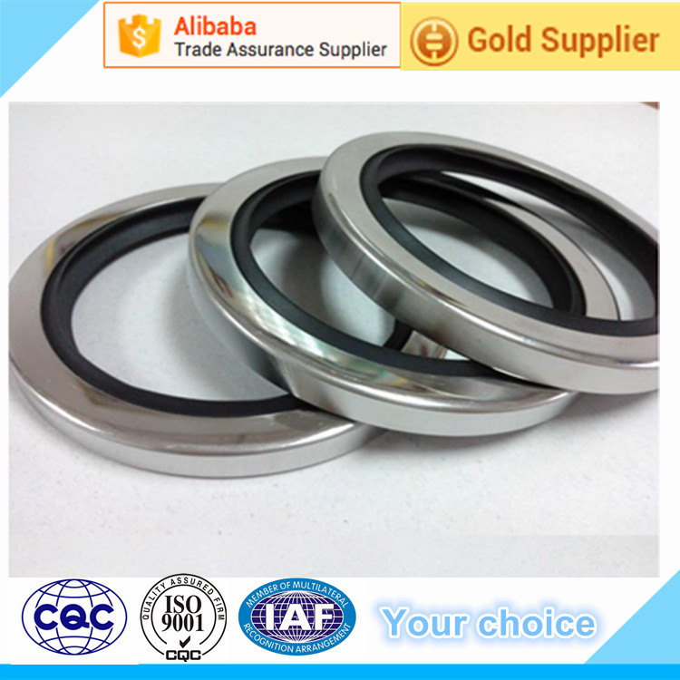 Rotary Shaft Oil Seal With Single PTFE Sealing Lip Stainless Steel Ring For Compressors Pumps Mixers
