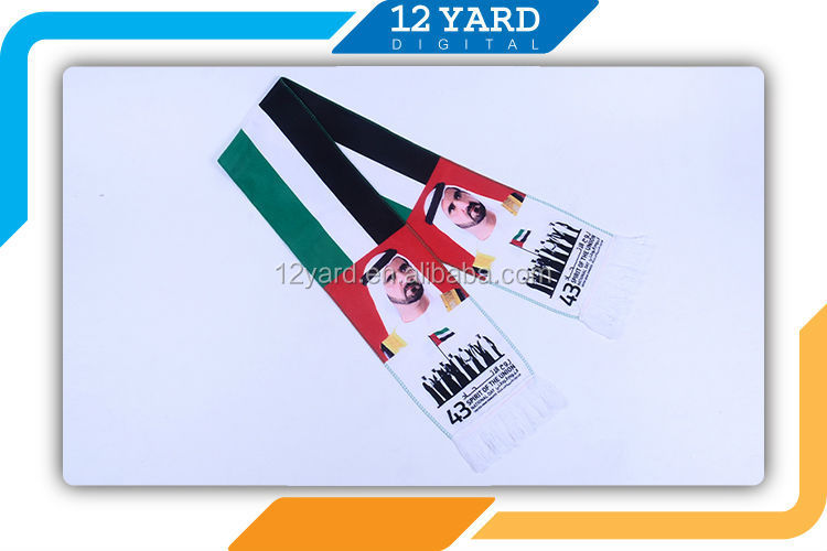 UAE National Day polyester scarf for Promotion gift holiday gift