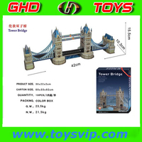 London tower Bridge building 3d paper model puzzle world famous building paper 3d puzzle making paper craft diy 3d puzzle