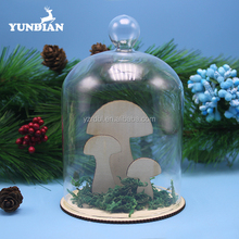Fashionable handmade cheap clear decorative christmas glass dome