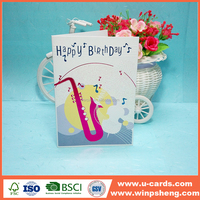 Hot stamping greeting card with birhtday wishes