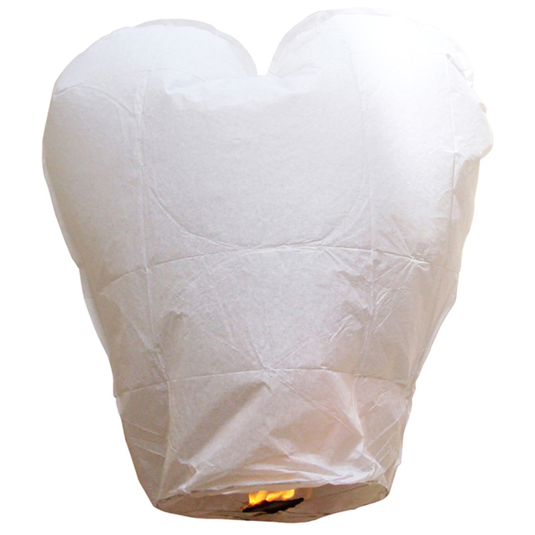 Heart Shaped Paper Flying Sky Lanterns