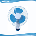 2017 New 3 plastic blades remote control 16 inch wall fan