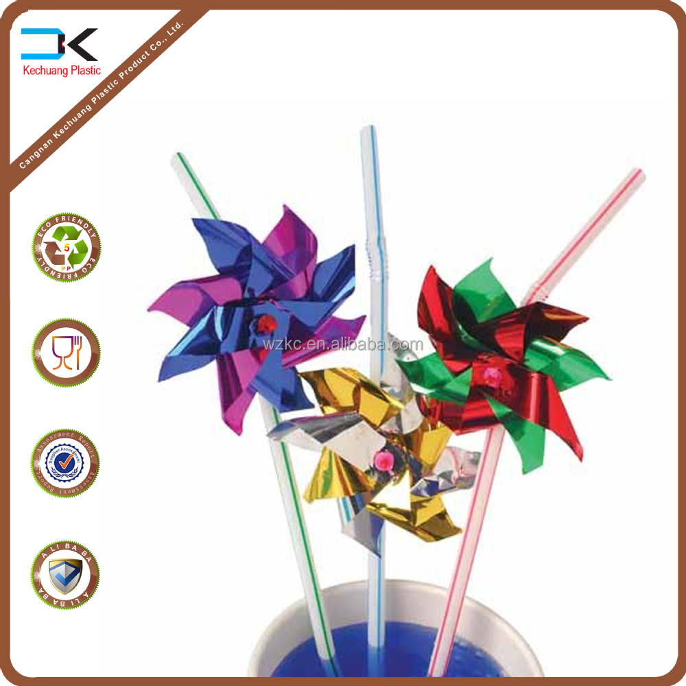 Flower printing Janpa feature plastic toy pinwheel