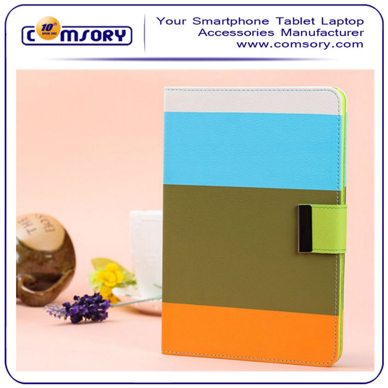 Contrast color Sleep Smart Cover Book Shell Stand for New Apple iPad mini 2 7.9 inch Tablet PC