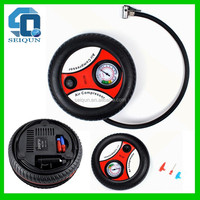 12v small round digital air compressor sets portable tire pump electric auto car tyre inflator