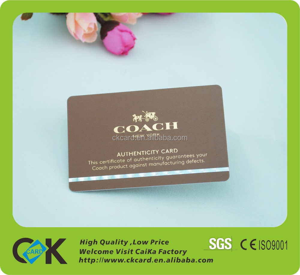 Custom high quality luxury gold foil business card