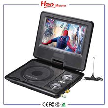 7 inch Portable DVD Player Mobile Mini Car CD Player for kids and Traveling with Remote Control Swivel Screen Home DVD Player
