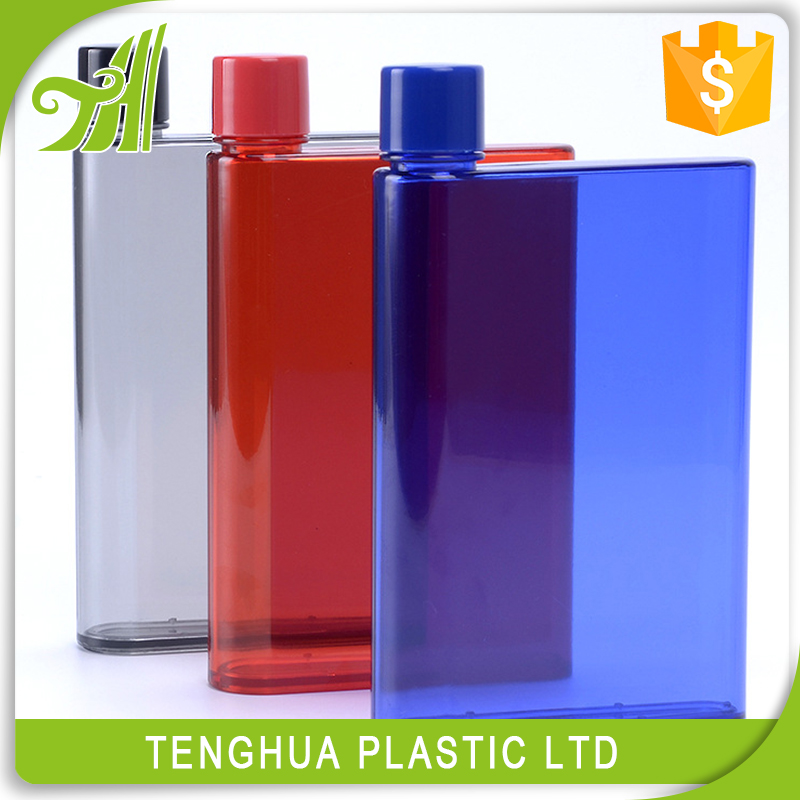 Square Plastic Notebook Bottle Drinking Bottle Clear bottle