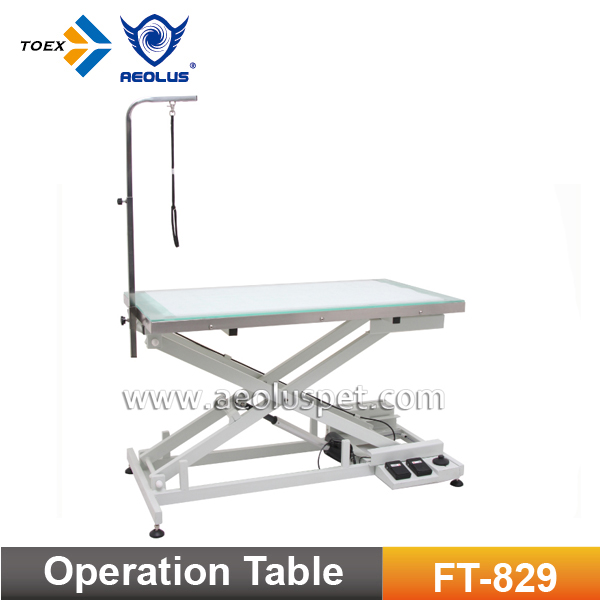 FT-829 Surgical Table Pet Grooming Operating Table Veterinary Work Table with LED Light