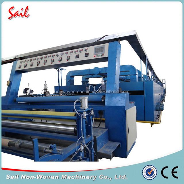 Nonwoven industrial fabric hot air stenter dipping heating stenter for drying