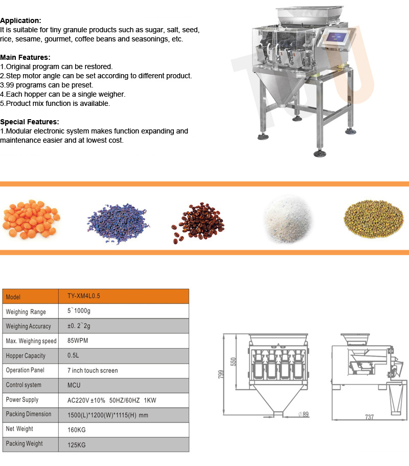 4 heads weigher