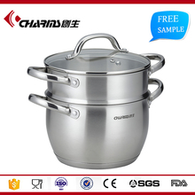 3 Tiers Stainless Steel Steamer induction compatible Cookware Saucepan Pot