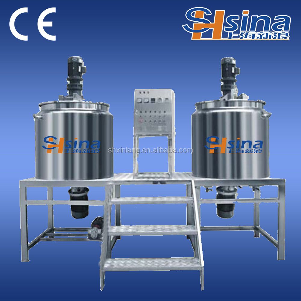 Agitator Tank With mixing /Shampoo Detergent Liquid Soap making machine with good price