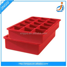 Hot Selling New Design 100% food grade unique freezer rectangle silicone ice cube tray