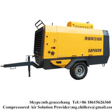 Portable Rotary Screw Diesel Air Compressor For Drilling