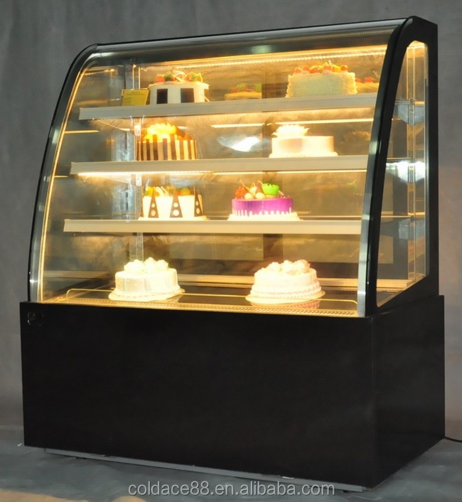 Luxury Marble Commercial Display Cake Refrigerator Showcase 4 Layers With Anti-Fog Function