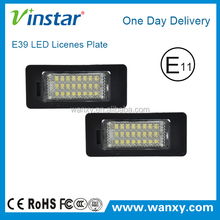 E-mark E82 LED license plate light car led registration plate Light for E39 E46 E60 E60N E70 E70N E90 E91 E92 M3 E93 E82 E838 E