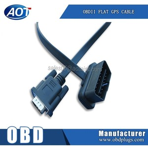 RS232 Male to OBD2 16 Pin Male Flat Wire with Good Quality and Price