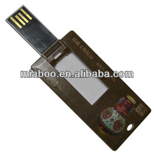Shenzhen supplier slim card pendrive, promotional plastic credit card usb flash drive, Bulk cheap usb 3.0 sound card