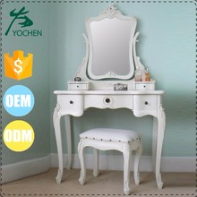 white gloss modern mirror furniture girl dressing table design with cupboard