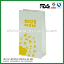 kraft paper bag for grocery ,French fries, popcorn