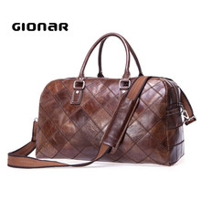 Executive High-end Fashion Genuine Leather Best Weekend Handbags Mens Travel Bag