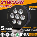 Super Bright Car Accessories 2700LM 5 inch 35W LED Work Light Work Lamp Driving Light for SUV ATV UTV IP67