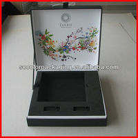 Perfect! High quality special design luxury paperboard printing cosmetic set boxes with EVA insert