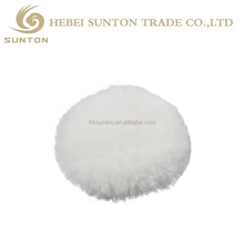 China factory wholesale sheepskin wool buffing polishing pad Sheepskin Lambskin Buffing Pad