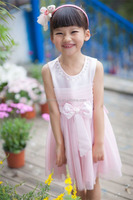 2016 new design casual party wear fashion girl kids dress wholesale