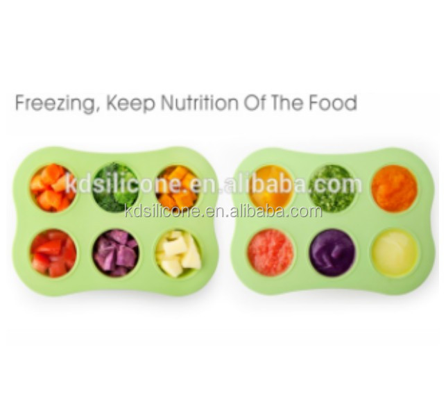 Baby Food Storage Solution / Silicone Freezer Tray with Lid