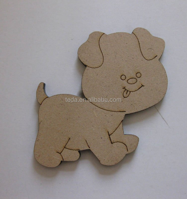 Dog pattern on mdf board hanging funny baby toy