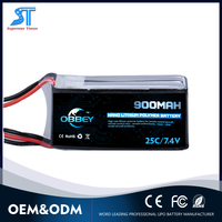7.4v lipo battery 900mah 2cell 25c for off-road rc car